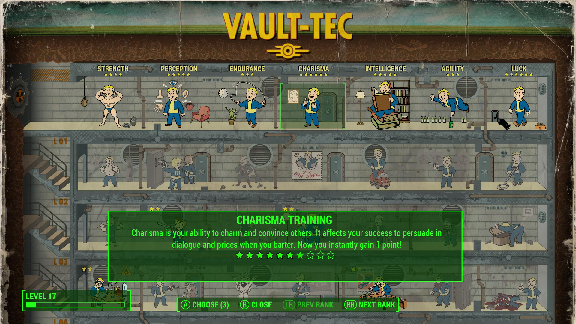 Fallout 4 Xbox One Review Perks Screenshot
