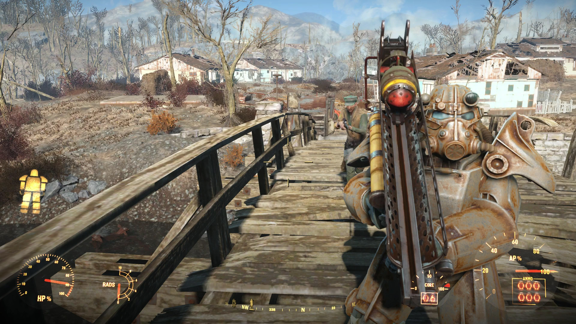 Fallout 4 Xbox One Review Power Armor Fat Boy Screenshot