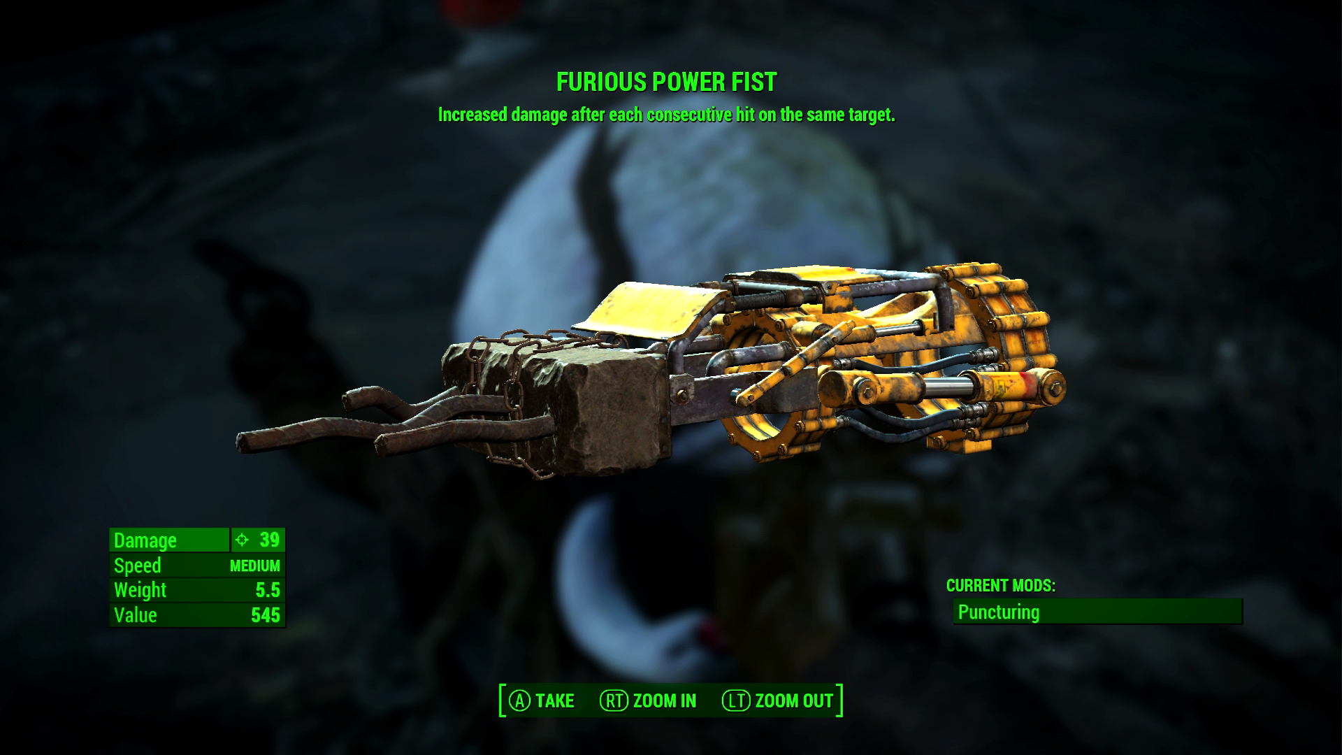 Fallout 4 Xbox One Review Furious Power Fist Screenshot