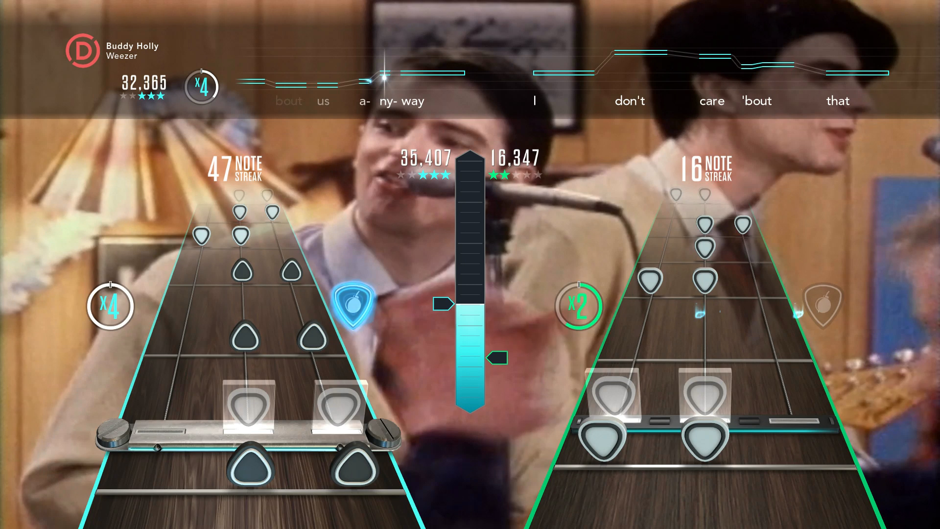 Guitar Hero Live screenshot PS4 GH TV Buddy Holly Multiplayer