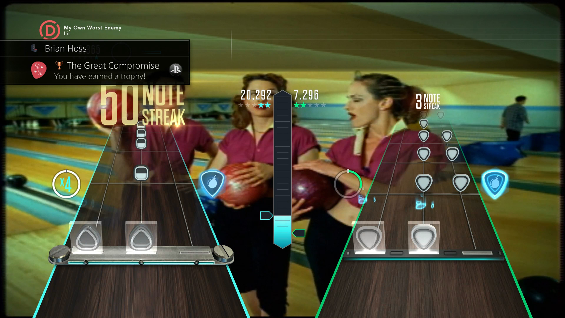Guitar Hero Live screenshot PS4 GH TV Trophy Multiplayer
