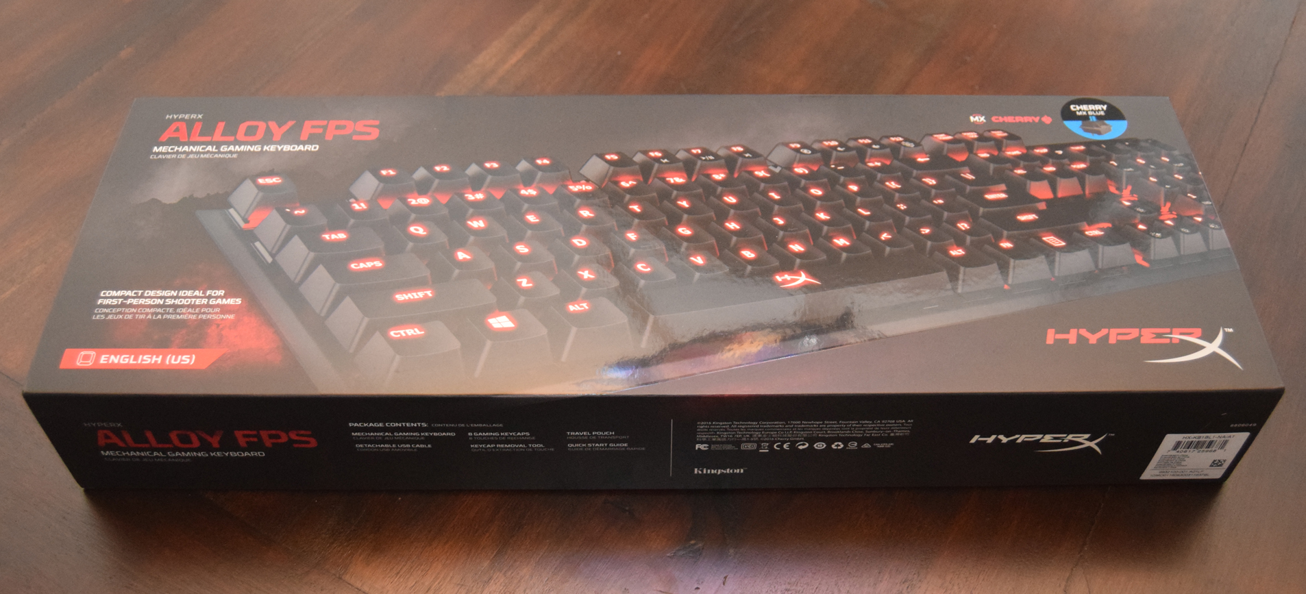 HyperX Alloy FPS Mechanical Gaming Keyboard review box front