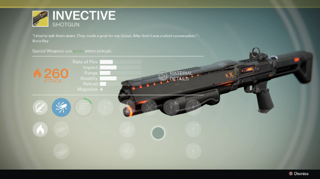Destiny Review Xbox One PS4 Xbox 360 PS3 Invective Shotgun Exotic Gear