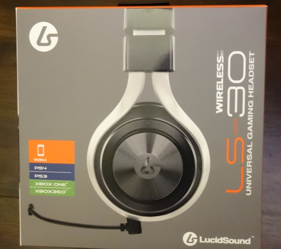 LucidSound LS30 Wireless Stereo Gaming Headset box