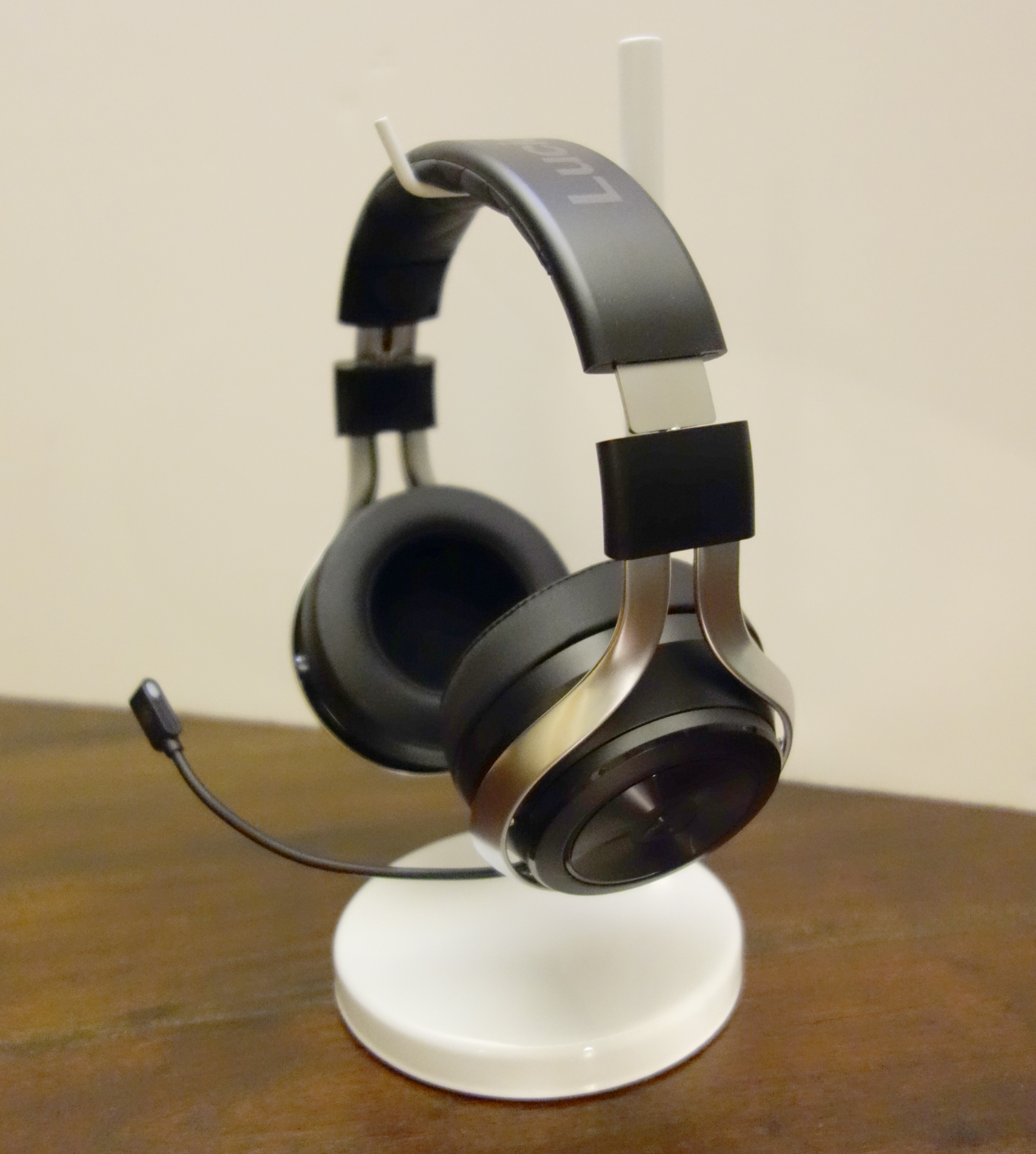 LucidSound LS30 Wireless Stereo Gaming Headset Left Side with Mic