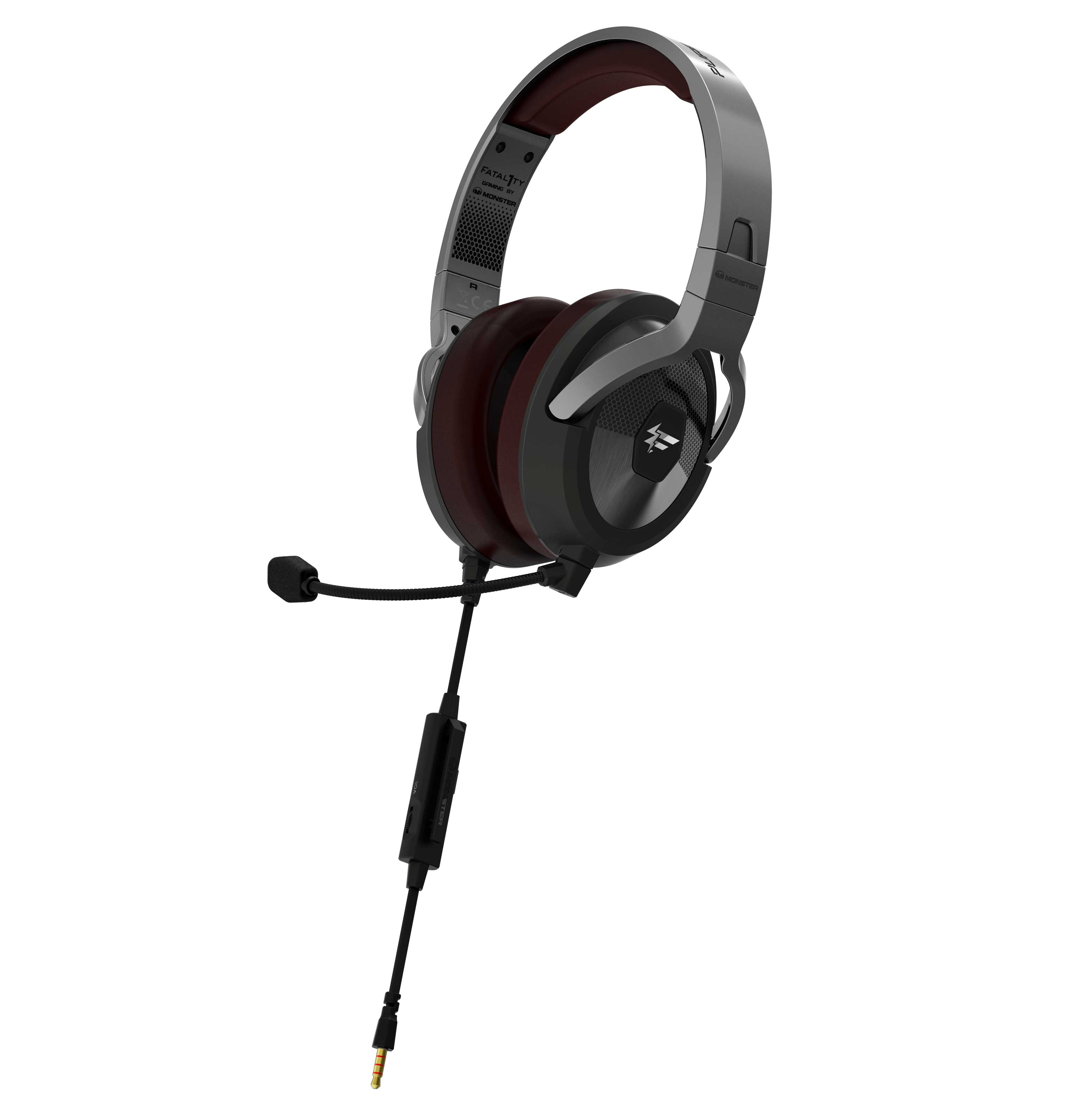 Monster FXM200 Gaming Headset Quarter View