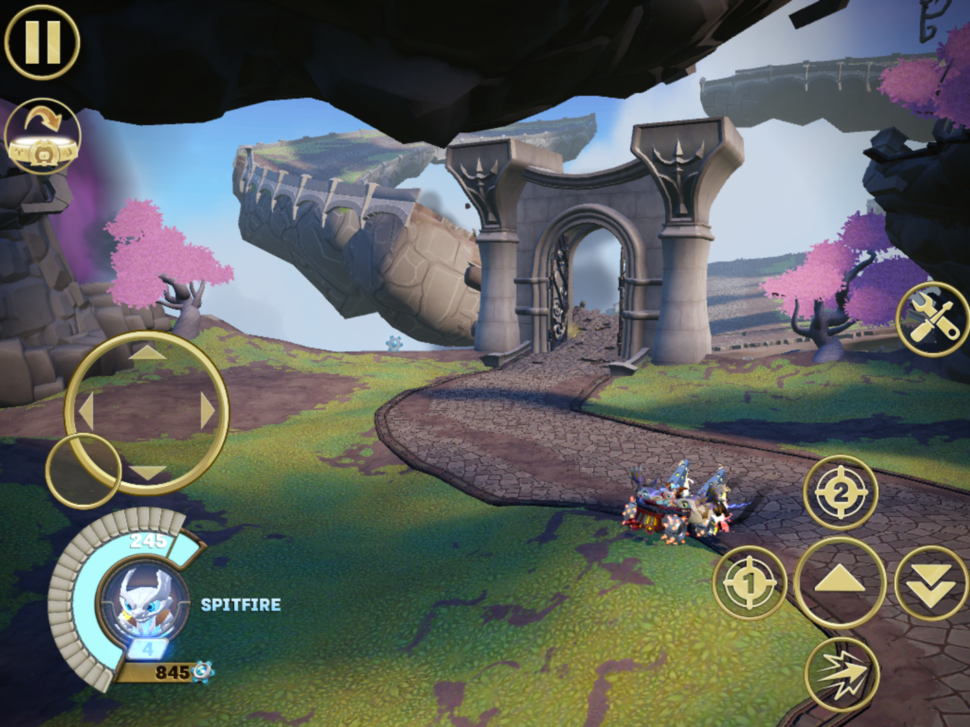 Skylanders SuperChargers iOS touchscreen controls