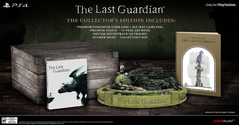 The Last Guardian - Collector's Edition Contents