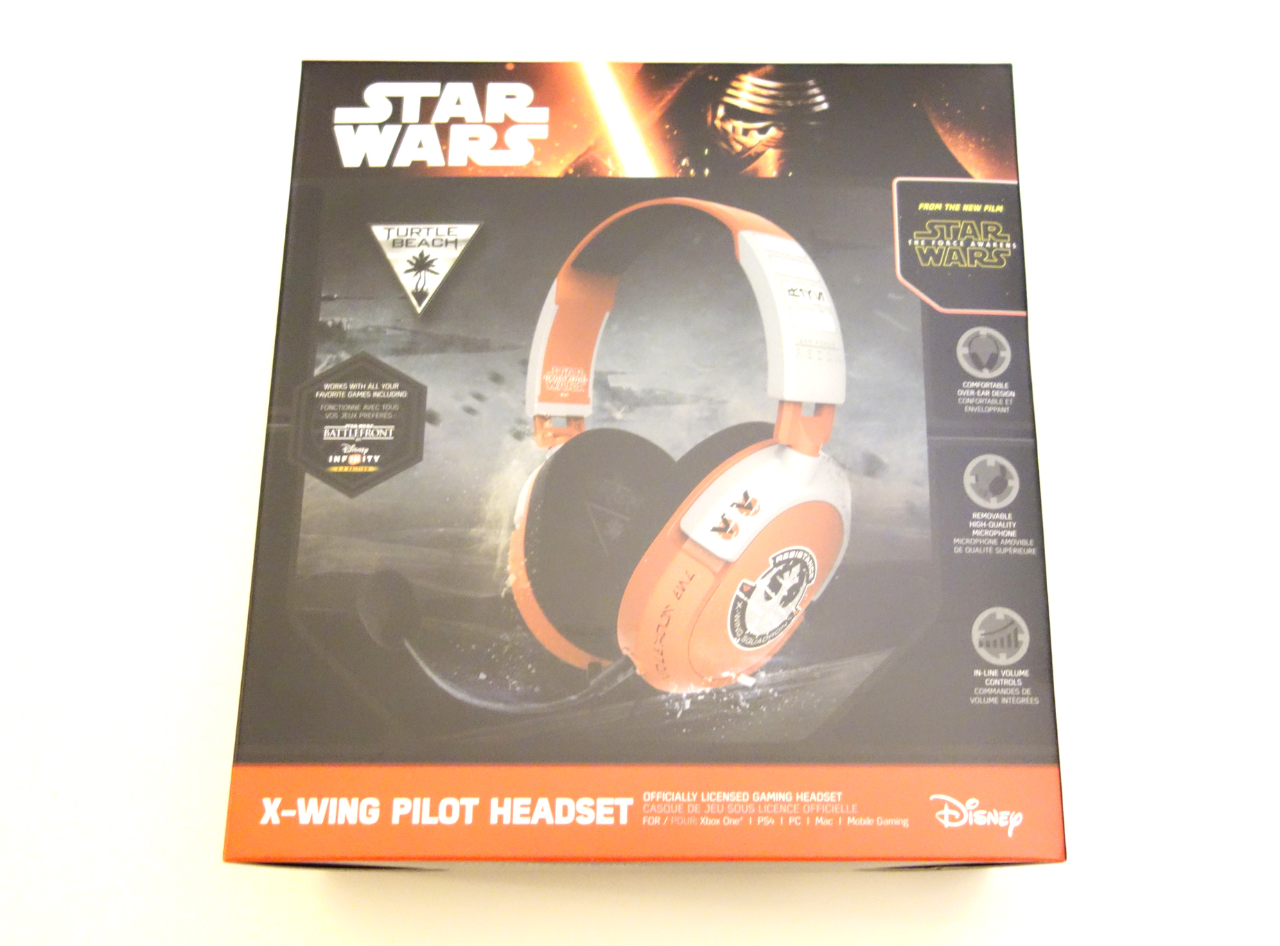 Turtle Beach Star Wars X-Wing Pilot Gaming Headset review box front