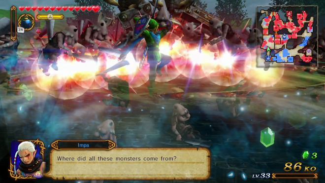 Hyrule Warriors Review Wii U Link Attack