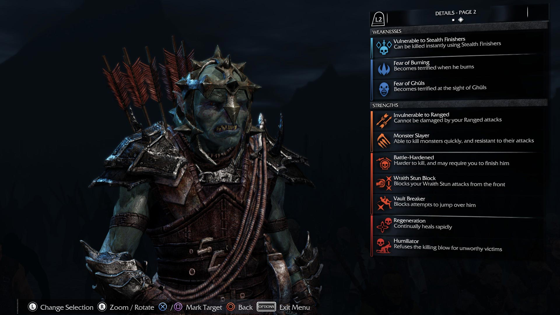 Middle Earth: Shadow of Mordor PS4 Screenshot