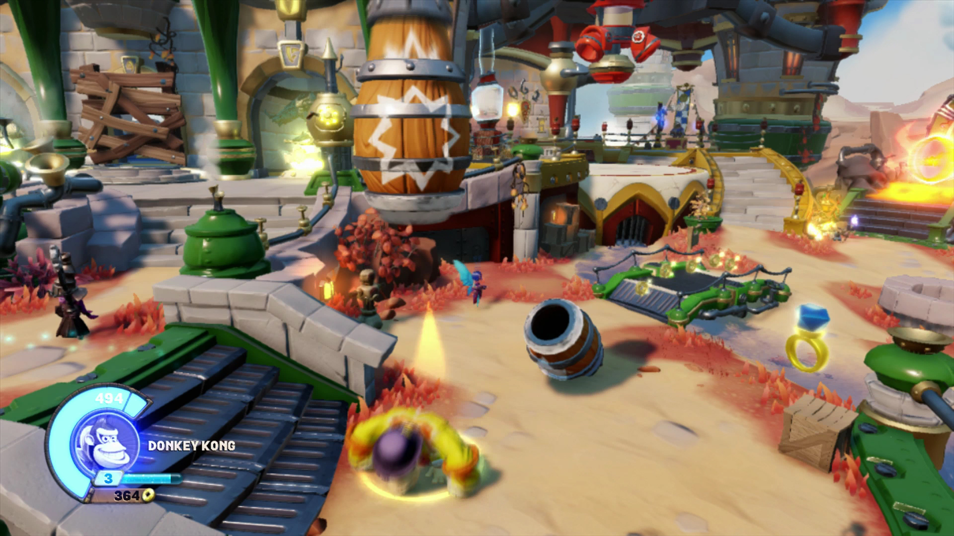Skylanders SuperChargers Donkey Kong Barrel ability