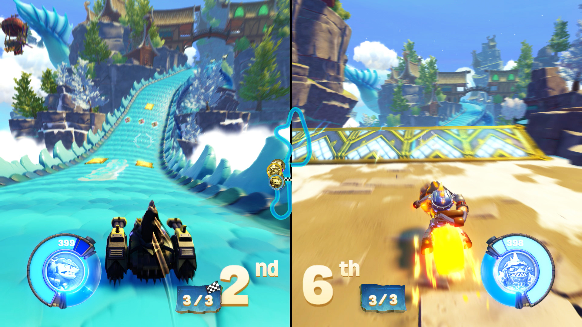 Skylanders SuperChargers split screen local racing