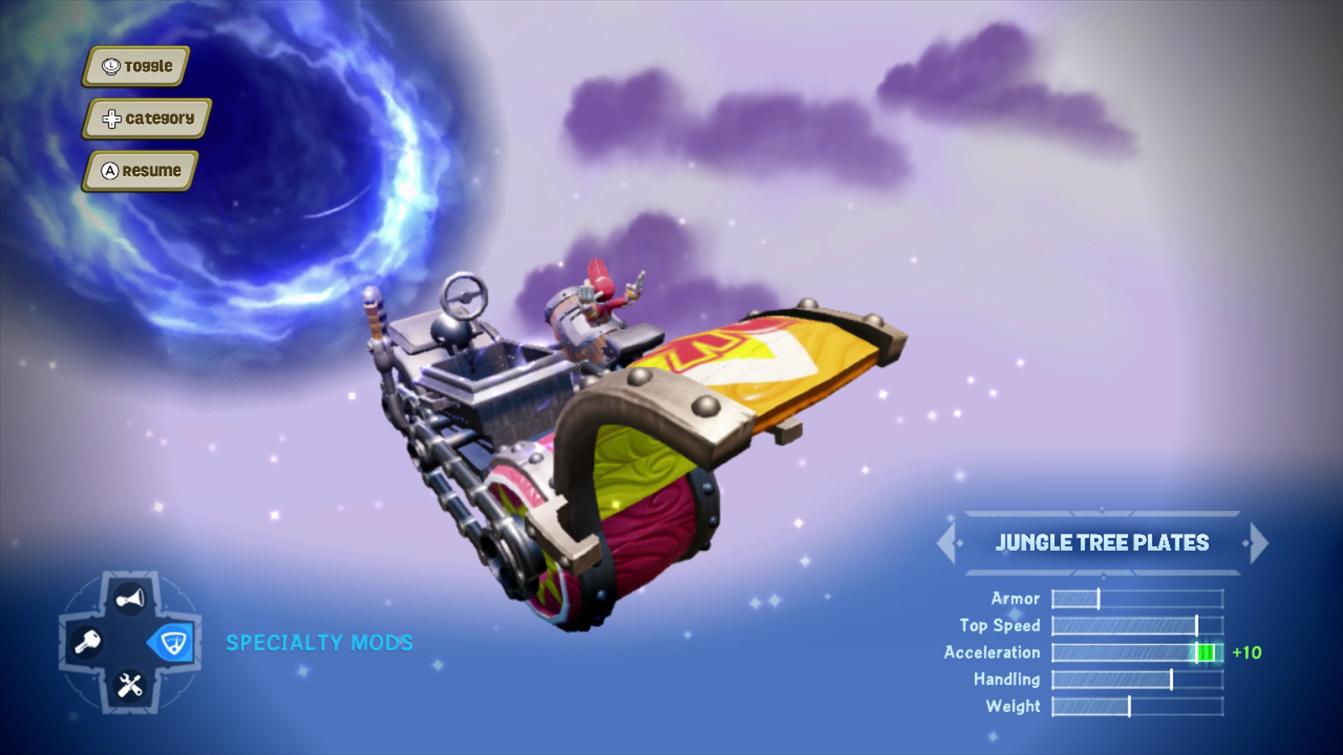 Skylanders SuperChargers Barrel Blaster vehicle mods